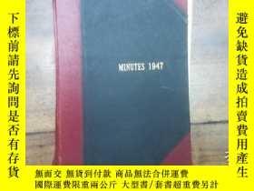 二手書博民逛書店MINUTES罕見1947Y271632
