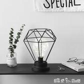 鐵藝鑚石燈泡小夜燈 創意家居飾品擺件臥室床頭臺燈「潔思米」