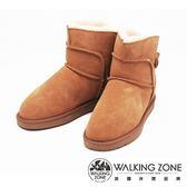 WALKING ZONE 經典熱銷款迷你雪靴短靴 女鞋-棕(另有黑)