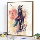 掛畫 diy數字油畫風景客廳卡動漫手工數字油彩畫減壓涂色填色畫 裝飾畫 果果輕時尚NMS