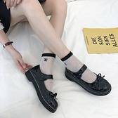 娃娃鞋 日系lolita大頭森女學院風學生軟妹蝴蝶結洛麗塔厚底小皮鞋 - 古梵希
