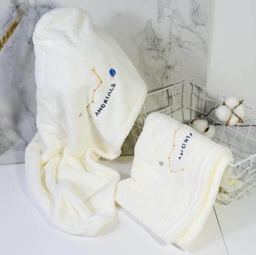 韓國爾木萄干發帽毛巾套裝可愛女超強吸水速干不掉毛擦頭發包頭巾魔方數碼