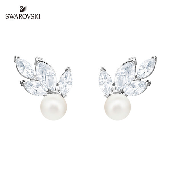 施華洛世奇 Louison Pearl 閃亮迷人穿孔耳環