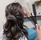 頭飾 優雅小仙女~懶人半丸子頭盤髮神器氣質韓國蓬鬆頭飾簡約網紅頭飾