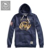 【Roush】 CRAY美式貼布刷毛帽TEE -【912521】