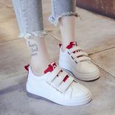 魔術貼小白鞋女秋季新款韓版學生平底帆布鞋板鞋百搭休閒女鞋     韓小姐の衣櫥