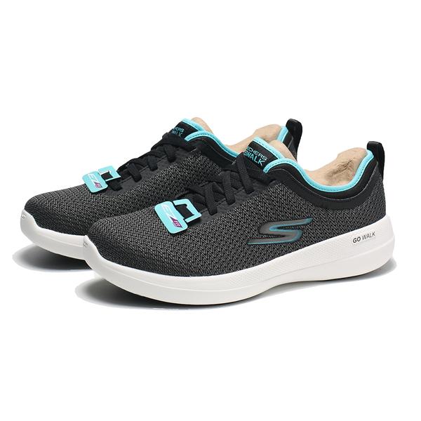 SKECHERS 慢跑鞋 GO WALK STABILITY 黑藍 寬楦 固特異底 女 (布魯克林) 124603WBKTQ
