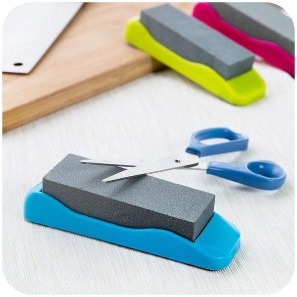[超豐國際]帶底座防滑家用磨刀石廚房小工具天然可拆卸菜刀開刃磨刀器