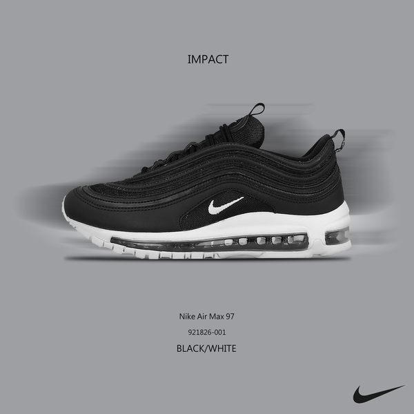 IMPACT Nike Air Max 97 黑子彈 黑 白 3M反光 921826 001
