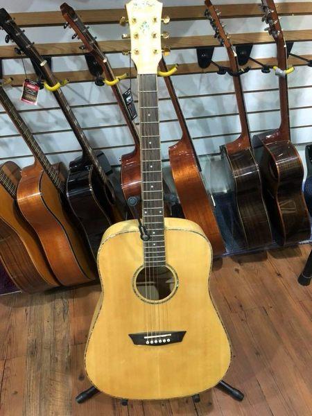 凱傑樂器 特價出清 Washburn WD45 面單板 D筒 木吉他(虎紋)