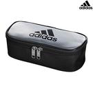 【愛迪達 鉛筆袋】愛迪達 adidas 防潑水 鉛筆袋 鉛筆盒 銀黑 文具 日本正版 該該貝比