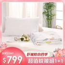【枕被買1送1】舒柔棉涼被/四季被+透氣壓縮枕1入 / 多款任選