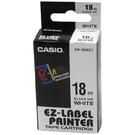 【奇奇文具】卡西歐CASIO XR-18WE1 18mm×8M 白底黑字 標誌帶