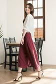 [H2O]前面綁帶設計厚雪紡寬口褲裙 - 紅/綠/黑 #8688002 春夏↘7折