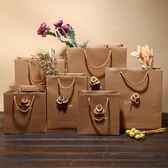 【雙十二】秒殺10個牛皮紙袋 服裝袋手提袋 禮品包裝袋子 DIY花 禮品袋3款gogo購