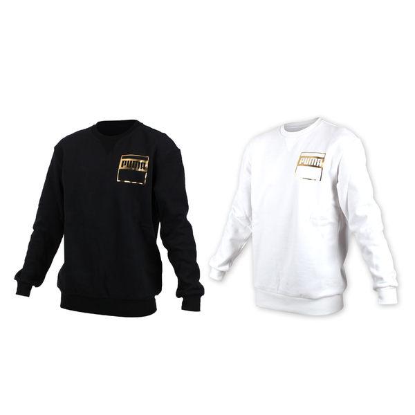 PUMA 男基本系列Rebel金色長袖圓領衫 (T恤 長T 保暖 刷毛 慢跑 路跑≡體院≡