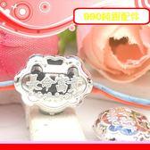 銀鏡DIY S990純銀配件~膨膨立體刻花如意鎖-長命富貴墜飾(穿式)~適合手作串珠/蠶絲蠟線/幸運繩