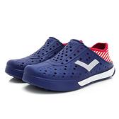 PONY 世界國旗 男女款紅藍白三色洞洞水鞋-NO.02U1SA04RD