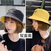 夏季薄款漁夫帽百搭時尚遮陽帽可折疊防曬太陽帽雙面【橘社小鎮】