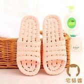 居家浴室拖鞋夏天室內防滑鏤空漏水塑料家用涼拖鞋【宅貓醬】