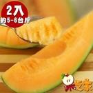 【南紡購物中心】【果之家】台南七股超甜爆汁洋香瓜網紋紅肉哈密瓜2顆(單顆約1KG)
