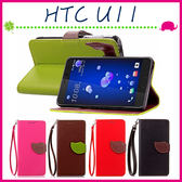 HTC U11 5.5吋 葉子磁扣皮套 荔枝紋手機套 支架 樹葉造型保護殼 內裡軟套 錢包式手機殼 側翻