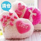 毛絨玩具愛心型心形抱枕靠墊靠枕結婚慶情侶生日禮物 GB5132『M&G大尺碼』TW