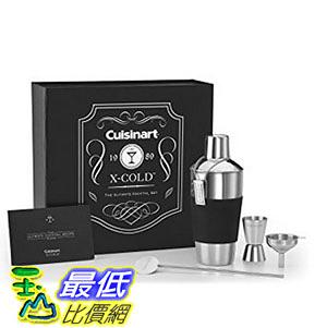 [美國直購] Cuisinart CTG-00-XCS 雞尾酒 調酒 酒吧用套組 X-Cold Cocktail Set, Silver