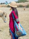 繡花包包女民族風新款大容量慵懶風帆布包側背復古斜背包刺繡包 黛尼時尚精品
