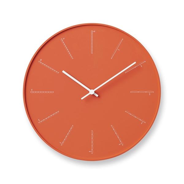 日本 Lemnos Divide Wall Clock 29cm 除法系列 佐藤大設計 圓形 壁鐘(橘色)