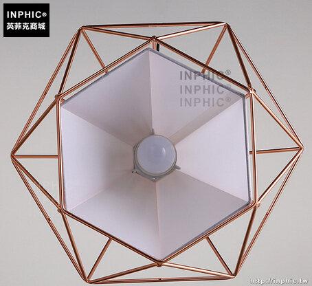 INPHIC- 現代吧台鐵藝鳥籠鑽石吊燈復古簡約創意單頭餐廳金字塔燈_S197C