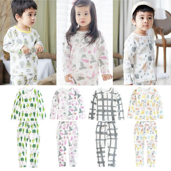 薄長袖套裝 兒童睡衣 居家套裝 兒童套裝 卡通居家服 男童 女童 套裝 70119