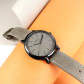 TIMEX 天美時 / TXTW2U05900 / 復刻系列 簡約風格 冷光照明 礦石強化玻璃 真皮手錶 灰x黑框 42mm