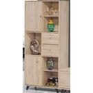 櫥櫃 餐櫃 PK-714-1 達克橡木3X6置物書櫃【大眾家居舘】