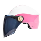 電動摩托車頭盔男女防曬輕便半覆式防紫外線電瓶機車安全帽