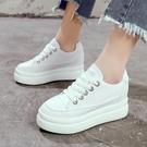 厚底鞋 小白鞋2020春季新款內增高厚底鬆糕鞋女休閒單鞋-完美