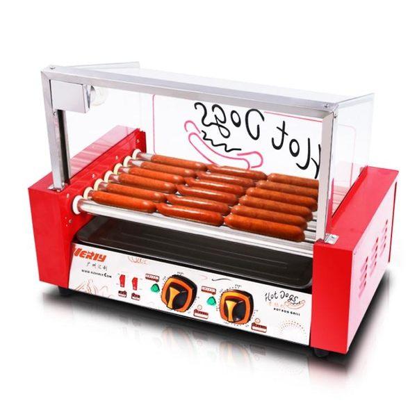匯利WY-007烤腸機熱狗機烤香腸機全自動台灣小熱狗火腿腸商用家用   極客玩家  igo  220v