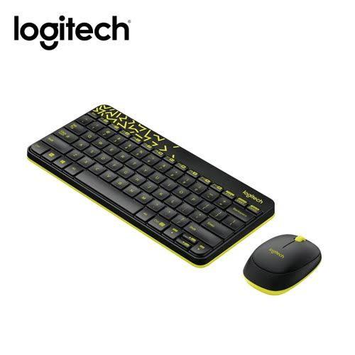 [富廉網] 羅技 Logitech MK240 Nano 無線鍵盤滑鼠組-黑黃