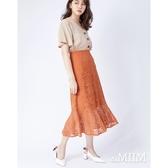 daMIIM浪漫排釦織花蕾絲窄裙-二色~初秋換季~限時激殺3折