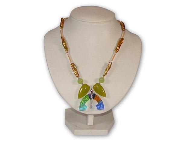 鹿港窯~居家開運琉璃 珠寶 項鍊~雙龍壁◆附精美包裝‧免運費送到家