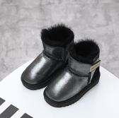 羊皮毛一體兒童雪地靴寶寶鞋女男學步鞋冬季棉鞋1-3-5歲童鞋【快速出貨】