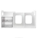 《享亮商城》BR-1387 象牙白色 超大型創新書架(附整理盒) Flying