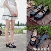 娃娃鞋 日系學院風制服鞋cos女圓頭洛麗塔小皮鞋蝴蝶結軟妹子單鞋 娃娃鞋 薇薇家飾