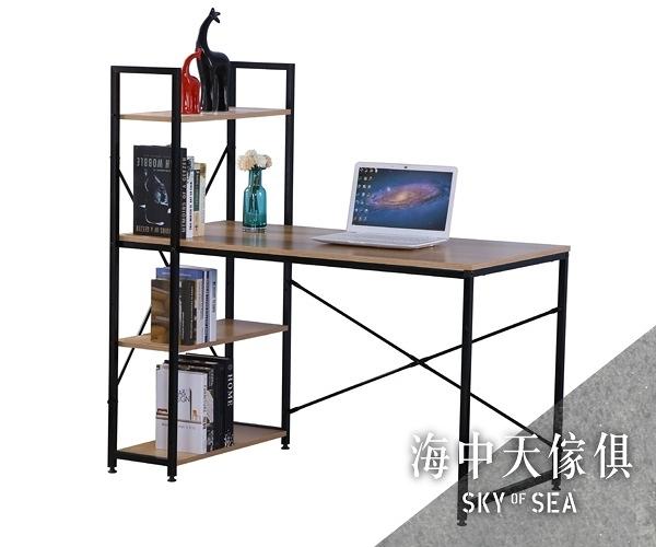 {{ 海中天休閒傢俱廣場 }} G-25 摩登時尚 書桌系列 826-3 艾美4尺本色黑腳書架型書桌