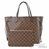 Louis Vuitton LV N41603 NEVERFULL MM 棋盤格紋子母束口購物包.中 全新 現貨【茱麗葉精品】