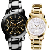 Relax Time 金色閃爆你日曆情侶對錶-42+38mm R0800-16-21X+R0800-16-30