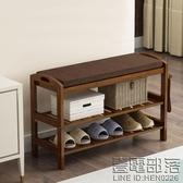 歐式鞋架簡易家用儲物小鞋櫃門廳櫃實木簡約現代門口收納式換鞋凳 新年特惠