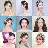 新娘頭飾大氣韓式森系花朵花環婚紗發飾影樓結婚配飾品梗豆物語