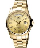 ENICAR 英納格 自動系列璀燦晶鑽機械腕錶-金 3169-50-330P