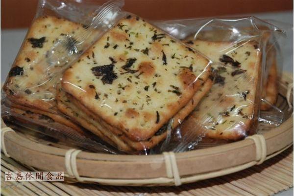 【吉嘉食品】蔬菜餅/蘇打餅(青蔥)單包裝 600公克 [#600]{WV04}